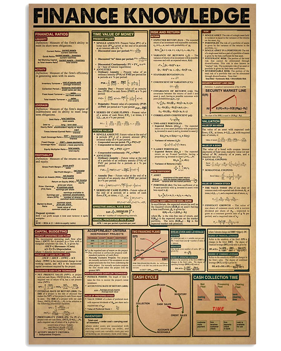 Accountant Finance Knowledge 24x36 Poster