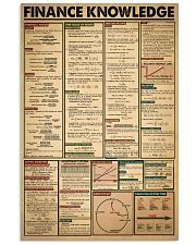 Accountant Finance Knowledge 24x36 Poster front