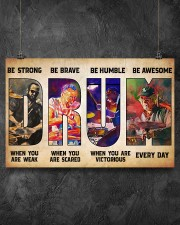 Drummers Be Strong When You Are Weak 17x11 Poster aos-poster-landscape-17x11-lifestyle-12