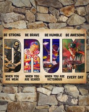 Drummers Be Strong When You Are Weak 17x11 Poster aos-poster-landscape-17x11-lifestyle-16