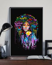 Social Worker Colorful Woman  11x17 Poster lifestyle-poster-2