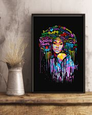 Social Worker Colorful Woman  11x17 Poster lifestyle-poster-3