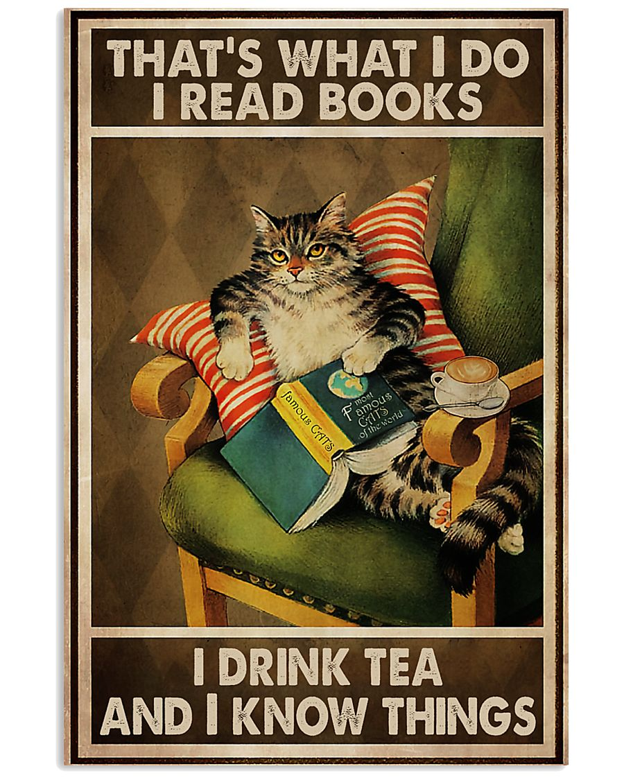 Book Lover I Read Books And Drink Tea 11x17 Poster