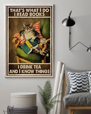 Book Lover I Read Books And Drink Tea 11x17 Poster lifestyle-poster-1