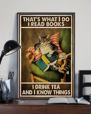 Book Lover I Read Books And Drink Tea 11x17 Poster lifestyle-poster-2