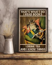 Book Lover I Read Books And Drink Tea 11x17 Poster lifestyle-poster-3