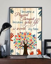 Physical Therapist Your Life Is Worth My Time 11x17 Poster lifestyle-poster-2