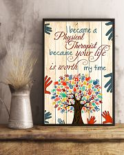 Physical Therapist Your Life Is Worth My Time 11x17 Poster lifestyle-poster-3
