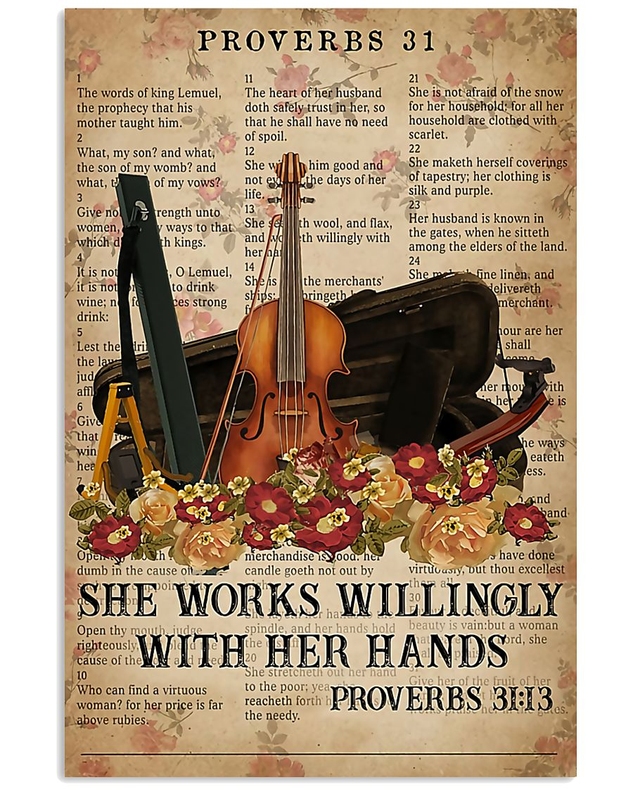Violin She works willingly with her hands 11x17 Poster