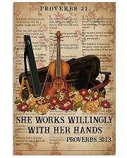 Violin She works willingly with her hands 11x17 Poster front