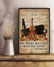 Violin She works willingly with her hands 11x17 Poster lifestyle-poster-3