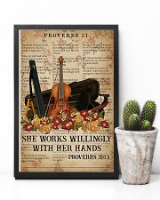Violin She works willingly with her hands 11x17 Poster lifestyle-poster-8