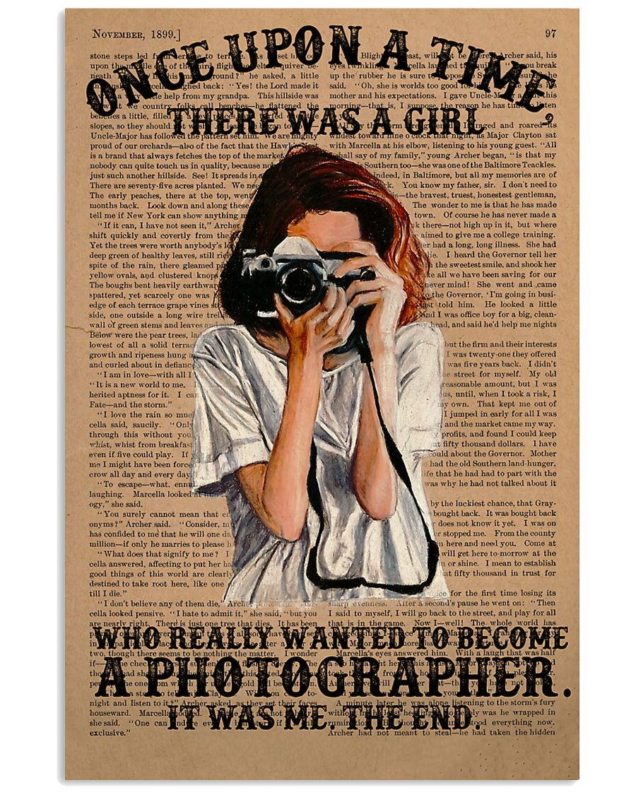 A Girl Wanted Become A Photographer 11x17 Poster