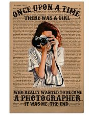 A Girl Wanted Become A Photographer 11x17 Poster front