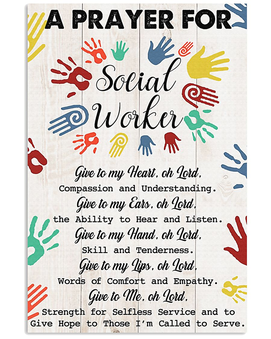 Social Worker A prayer for social worker 11x17 Poster