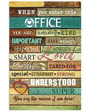 Social Worker When you enter this office  Poster 11x17 Poster front