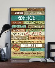 Social Worker When you enter this office  Poster 11x17 Poster lifestyle-poster-2