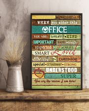 Social Worker When you enter this office  Poster 11x17 Poster lifestyle-poster-3