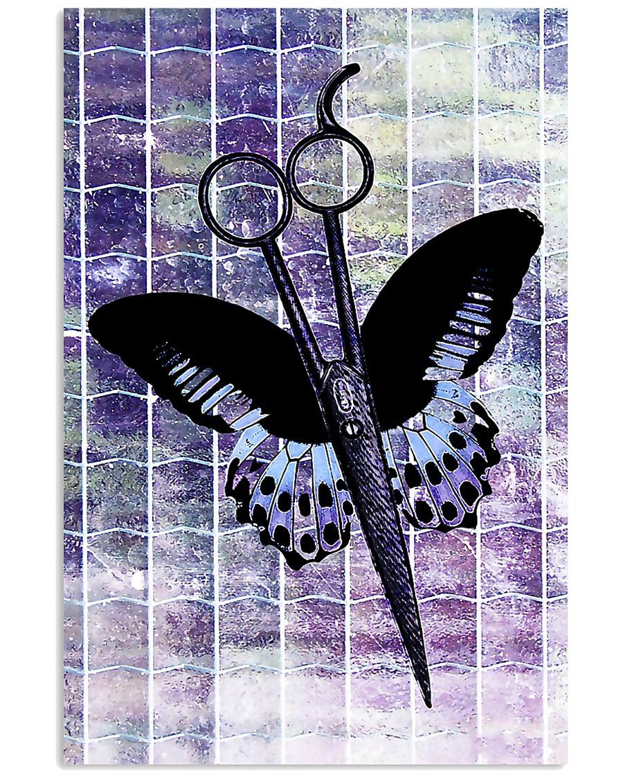 Purple Butterfly Scissor Hairdresser 11x17 Poster