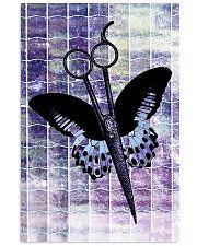 Purple Butterfly Scissor Hairdresser 11x17 Poster front
