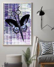 Purple Butterfly Scissor Hairdresser 11x17 Poster lifestyle-poster-1