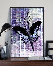 Purple Butterfly Scissor Hairdresser 11x17 Poster lifestyle-poster-2