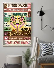 Hairdresser In This Salon We Love Hair 11x17 Poster lifestyle-poster-1