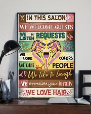 Hairdresser In This Salon We Love Hair 11x17 Poster lifestyle-poster-2