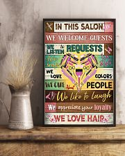Hairdresser In This Salon We Love Hair 11x17 Poster lifestyle-poster-3