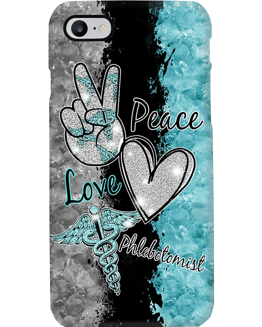 Peace Love Phlebotomist Phone Case