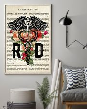 Registered Dietitian Flower Poster  24x36 Poster lifestyle-poster-1