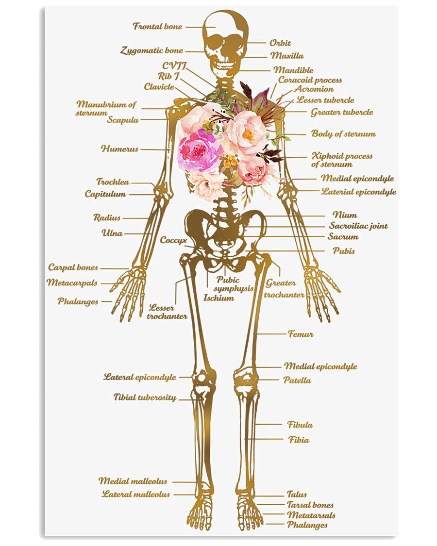 Floral Skeleton Parts Art Print  11x17 Poster