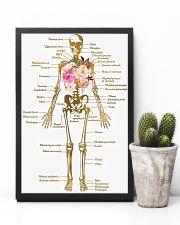 Floral Skeleton Parts Art Print  11x17 Poster lifestyle-poster-8