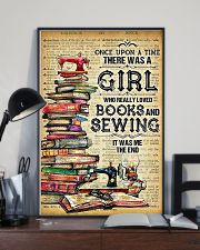 There Was A Girl Who Really Loved Books And Sewing 11x17 Poster lifestyle-poster-2
