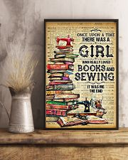 There Was A Girl Who Really Loved Books And Sewing 11x17 Poster lifestyle-poster-3