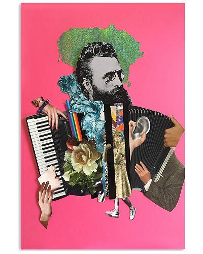 Accordion man playing accordion