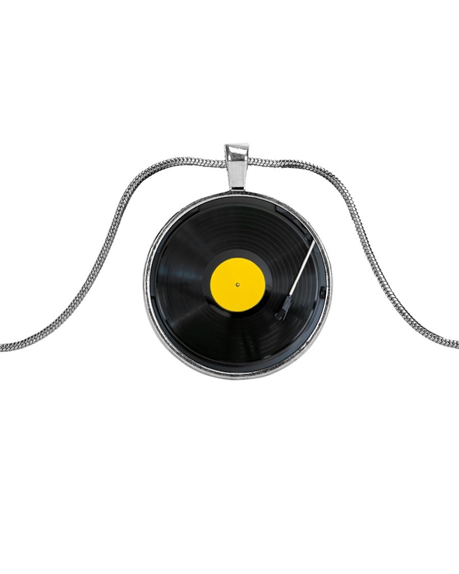 DJ Vinyl Metallic Circle Necklace