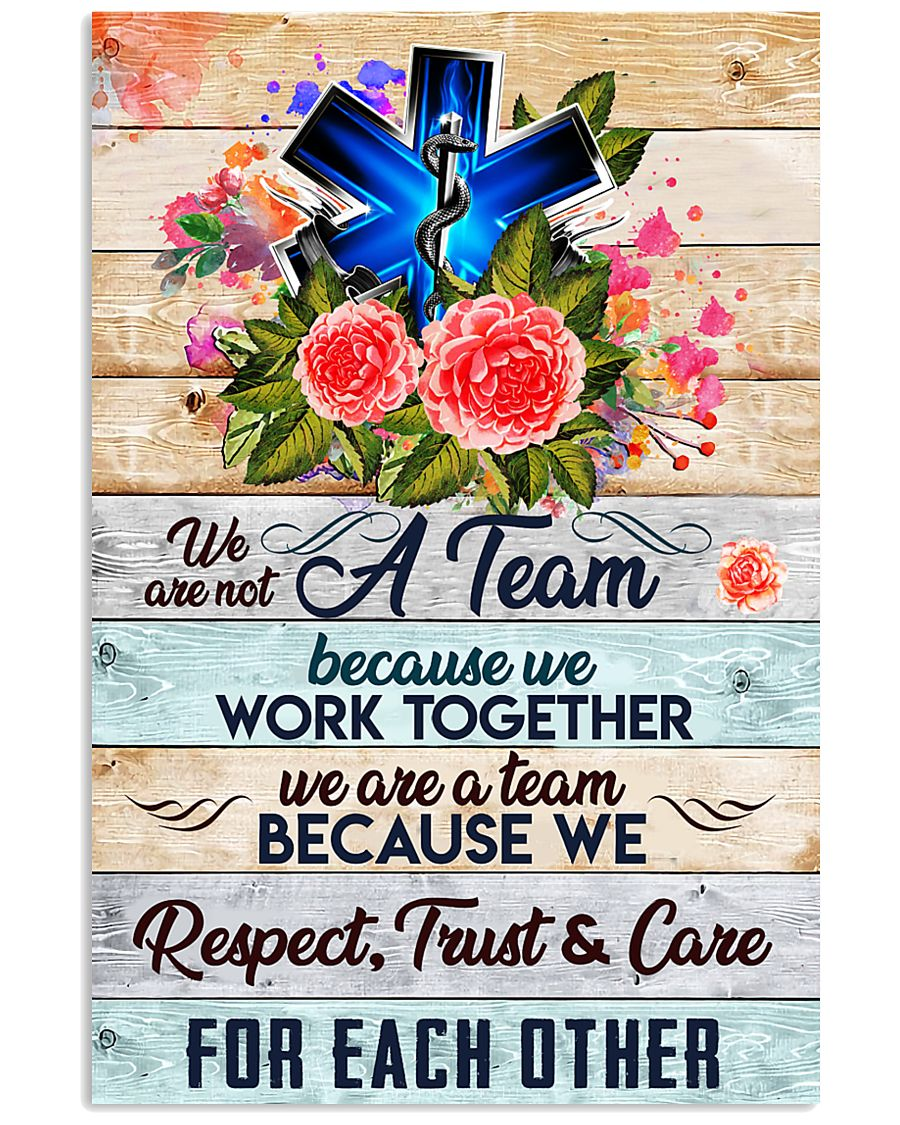 Paramedic We are a team 24x36 Poster