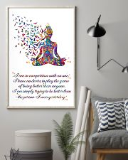 Yoga I Am In Competition With No One 11x17 Poster lifestyle-poster-1