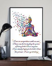 Yoga I Am In Competition With No One 11x17 Poster lifestyle-poster-2