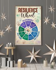 Social Worker Resilience Wheel 11x17 Poster lifestyle-holiday-poster-1