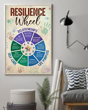 Social Worker Resilience Wheel 11x17 Poster lifestyle-poster-1