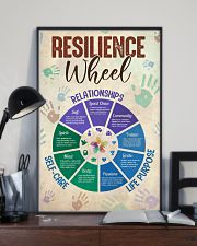 Social Worker Resilience Wheel 11x17 Poster lifestyle-poster-2