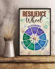 Social Worker Resilience Wheel 11x17 Poster lifestyle-poster-3