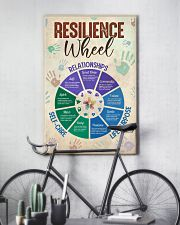 Social Worker Resilience Wheel 11x17 Poster lifestyle-poster-7