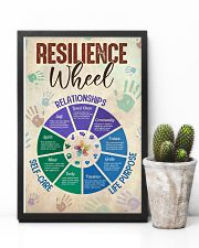 Social Worker Resilience Wheel 11x17 Poster lifestyle-poster-8