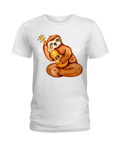 Cute Sloth With Ukulele