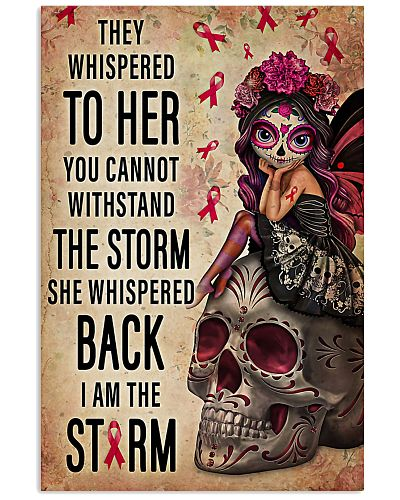 Breast Cancer she whispered back I am the storm