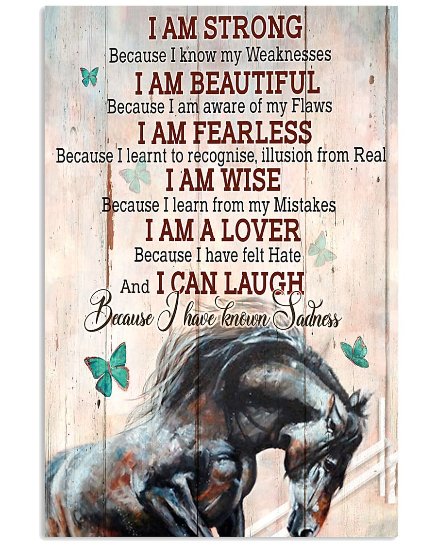 Horse Girl I Am Strong  11x17 Poster