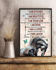 Horse Girl I Am Strong  11x17 Poster lifestyle-poster-3